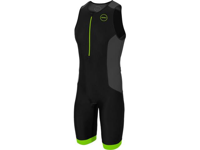 Zone3 Aquaflo Plus Traje Triatlón Hombre, black/grey/neon green